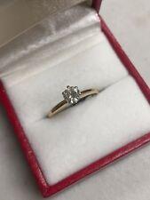 14K YELLOW GOLD ROUND DIAMOND SOLITAIRE  ENGAGEMENT .40 CT RING