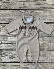 Koala Bear Boutiques 0-3 Months Boys One Piece Sweater Outfit Long Sleeve Brown