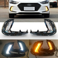 For Hyundai Elantra LED DRL Daytime Running Fog Light Turn Signal Lamp 2017 2018