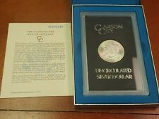 1881 CC GSA Uncirculated Morgan Silver Dollar Box & Certificate RARE DIE BREAK!