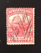 Stamps  Newfoundland SC116 2c scarlet Caribou with unusual dated pen cancel.