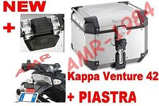 BAULE TOP CASE K-VENTURE KVE42A + PIASTRA SR6401 TRIUMPH TIGER 800XC 800XR +K637