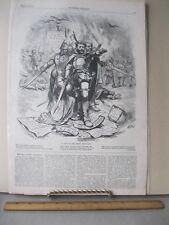Vintage Print,STEP RIGHT DIRECTION,June 1874,Th.Nast,Harpers,Political Cartoons