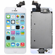 For iPhone 5 Full Front Digitizer Touch Screen LCD Assembly White Button Cam A++