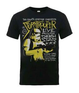 Ladies Womens Star Wars Stormtrooper T-shirt Black Rock Official Sizes xs-xl