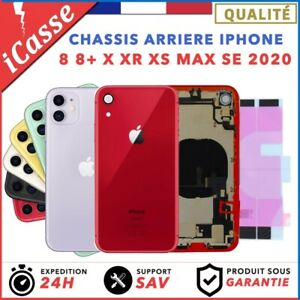 Chassis arriere iPhone 8 8 PLUS X XS XR XS Max 11 SE 2020 + ADHESIF + LOGO CE