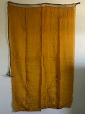 VINTAGE LINEN GOLD  35 x 56 FLAG MARKED 'Q' SEWN NAUTICAL HANDLE  RARE