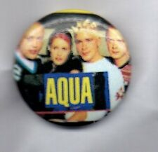 AQUA - EURO DANCE GROUP BUTTON BADGE - BARBIE GIRL, DOCTOR JONES 90s POP 25mm