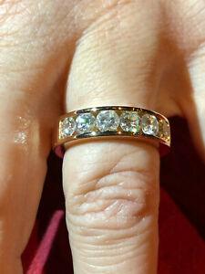 Vollmassiver Ring 750er / 18 Karat Roségold 1,72 Karat Brillanten (natürlich)
