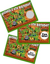 10 TEENAGE MUTANT NINJA TURTLES SCRATCH OFFS PARTY GAMES CARDS BIRTHDAY FAVORS