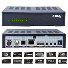 Apebox C2 4K UHD H.265 DVB-S2X DVB-C/T2 Multistream Combo Receiver, USB, LAN, CA