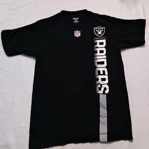 Oakland Raiders Black Reebok T-Shirt Sz Medium NFL