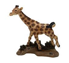 "Giraffe Figurine Living Stone 3"" Resin Statue New Collectible"