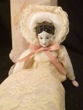 Silvestri Porcelain Civil War Lady Style Doll in Lace Dress in Christmas Box new