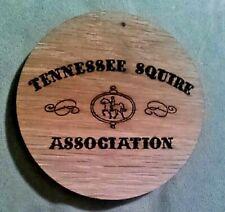 "Tennessee Squire Jack Daniels Whiskey Wood Barrel Coaster  (4"" Diameter x 1/4"")"