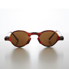 Small Round Vintage Spectacle Vintage Sunglass Brown / Brown Lens - Oscar