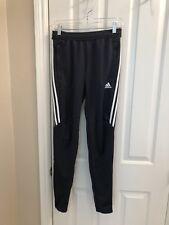 NWT Women's ADIDAS Gray Skinny Track Pants w/ 3 White Stripes Small 8-10