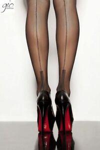 GIO Cuban Heel Fully Fashioned Stockings 100% Nylon Backseam Hosiery Nylons