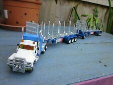 Code 3 Aussie Road Train Mack R Sleeper with 2 x 40ft Logging Trailers & Dolly
