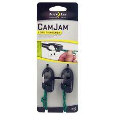 Nite Ize CamJam Cord Tightener Black Small 2-Pack w/ Rope Lightweight Sturdy