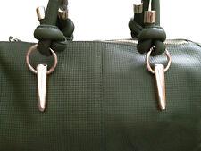 100% Real Leather Green Handbag