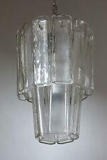 Mazzega Deckenlampe Eisglas Italien um 1960 Midcentury 50er 70er