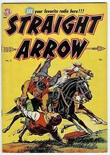 Straight Arrow #2 (Magazine Enterprises 1950, fn-vf 7.0) guide value: $112 (£73)