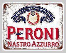 Targa peroni beer stampa metallo vintage retrò pub bar poster arredo