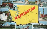 Postcard Map of Washington
