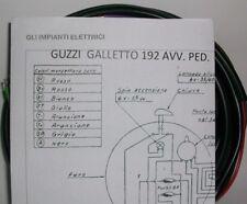 IMPIANTO ELETTRICO ELECTRICAL WIRING MOTO GUZZI GALLETTO 192 AVVIAMENTO PEDALE