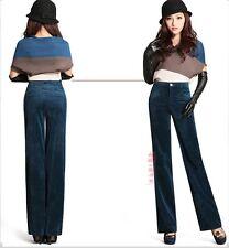Fashion Women's New High Waist Long Pants Corduroy Loose Casual Ladies Trousers