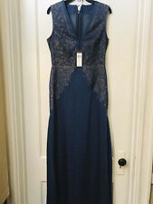 BCBG MAX AZRIA SLEEVELESS EMBROIDERED LACE LONG DRESS GOWN NWT SIZE 8 $448.00