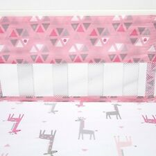 Little Love by NoJo Giraffe Time Pink Crib Liner