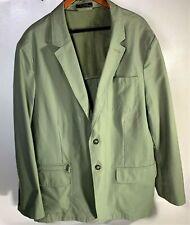 LL BEAN Mens Canvas Coat Jacket Army Green Size Xl