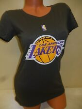 "0730 WOMENS NBA LOS ANGELES LAKERS ""Crew Neck"" Basketball Jersey SHIRT New GRAY"