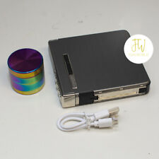 4 Layers Metal Crusher Hand Muller Herbal Herb Grinder and Rechargeable Lighter