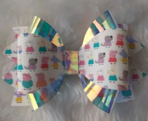 "AMELIA ,4"" Plastic Hair  Bow Template - Make Your Own Glitter fabric Bows"