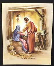 Spiritual Religious Jesus is the Reason for the Season Vintage Poster 20 x 16