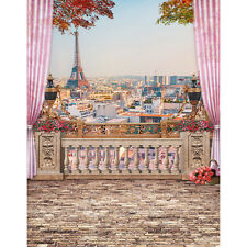 6x8ft Vinyl Eiffel Tower Paris Balcony Photography Studio Backdrop Background