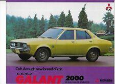 Mitsubishi Colt Galant 2000 brochure - 1974 - mint condition