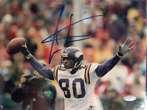 Cris Carter Signed Minnesota Vikings 8x10 Photo Steiner