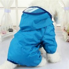 Dog's Rain Coat Summer Outfit Waterproof Chihuahua Yorkshire Puppy Hooded Jacket