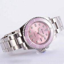40mm bliger pink dial ceramic bezel sapphire crystal automatic mens watch P92