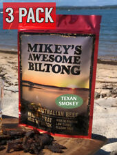Mikeys Awesome Biltong - Texan Smokey Flavour - 225 grams 3 PACK