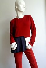 ❄❄New #   SPORTMAX by MAX MARA Colour Block Knitted Sweater  size L