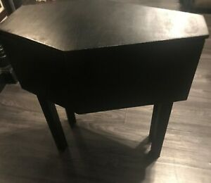 Coffin Table with storage solid wood table Dracula style Gothic end table