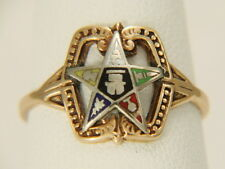 Vintage 10K Yellow Gold Order of the Eastern Star Ring Size 7.5
