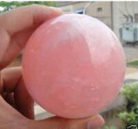 Natural Pink Rose Quartz Magic Crystal Healing Ball Sphere 30-35MM + Stand