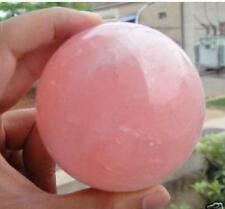Natural Pink Rose Quartz Magic Crystal Healing Ball Sphere 30-35MM + Stand
