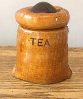 Vintage Ceramic Tea Caddy 13 Cm. 1960s